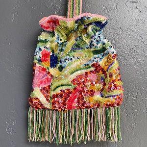 Zara Ornate Beaded Colorful Purse - Wear 2 Ways!